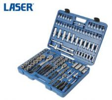 "LASER 171 Piece Metric Ratchet Socket/Bit Set 1/4"", 3/8"", 1/2"" Sq Dr + Case 6590"